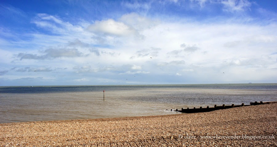 Sea view - walking Deal to Dover, Kent, UK