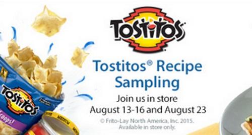 Walmart Tostitos Recipe Sampling Event