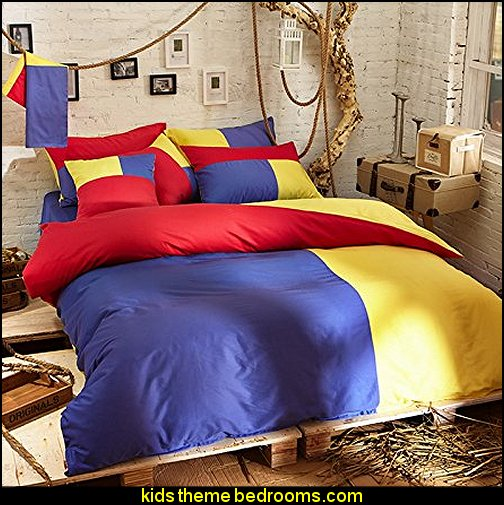 Aurora Blue Bedding Set - primary colors bedding