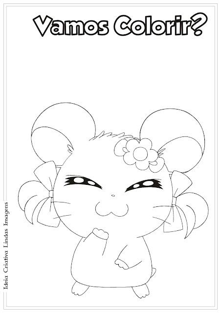 Desenho do Hamtaro para colorir