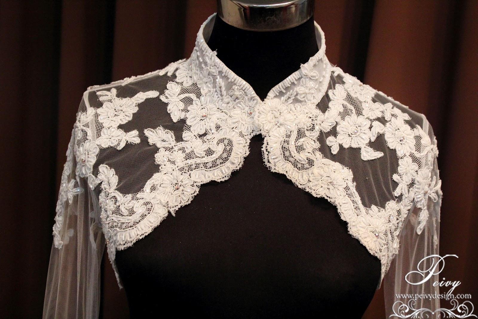 Wedding Dress Bolero : Wedding gown bolero for bridal by peivy design