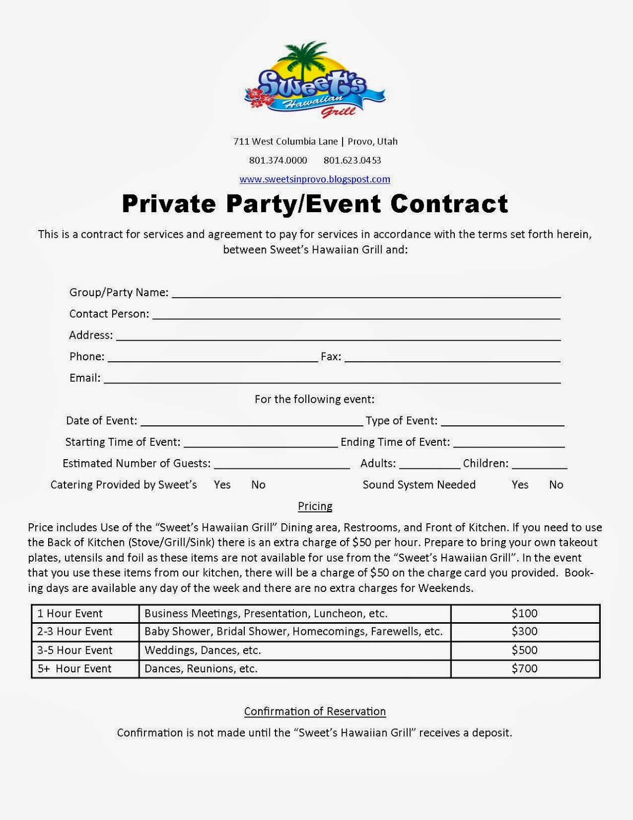 event space rental contract template - welcome to our sweet 39 s blog holiday party time is coming
