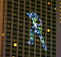 Baltimore hotel honors Ray Lewis with laser light show