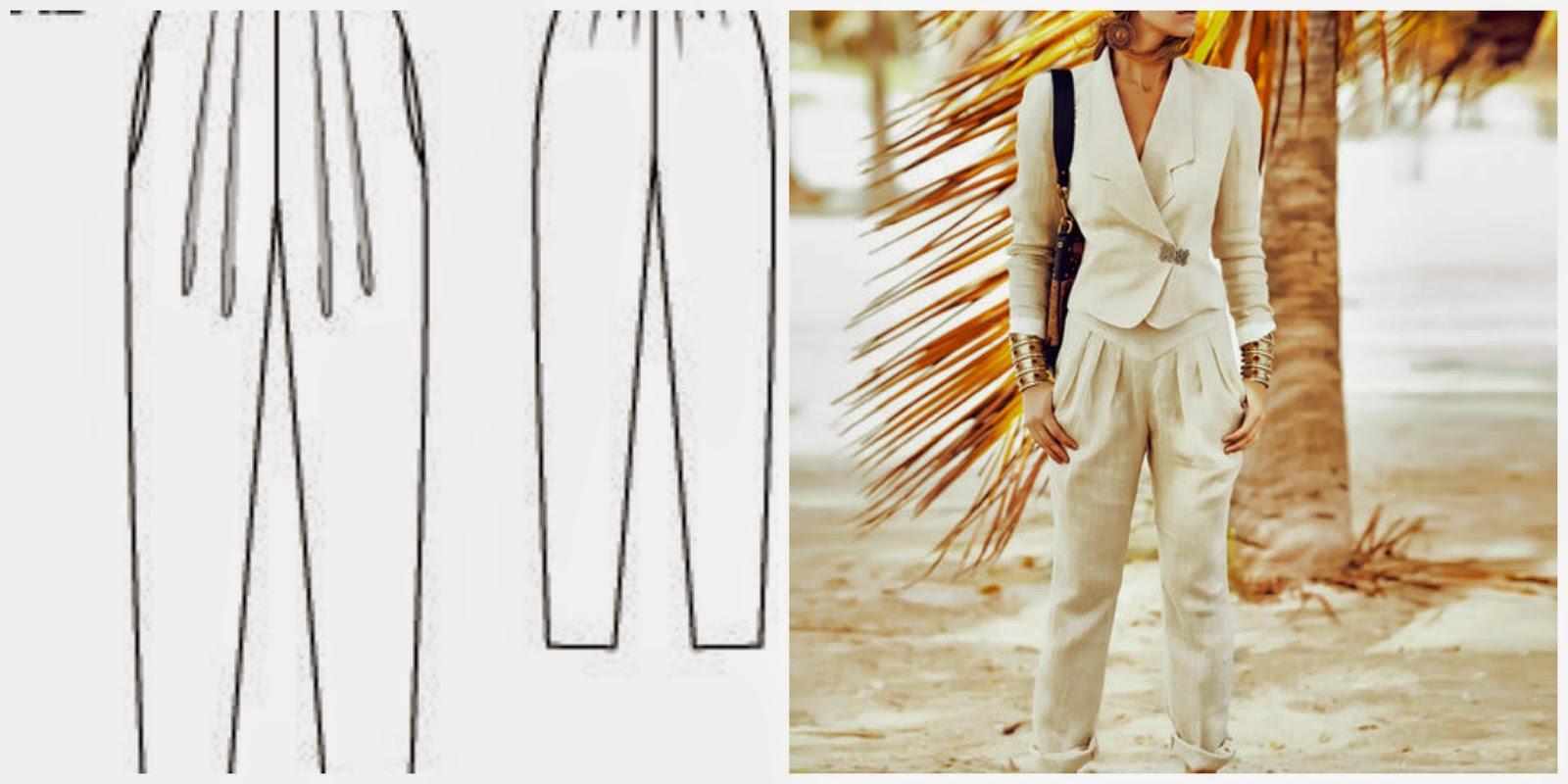 pantalones pinzas burda pants 110 04/2014 abril modistilla de pacotilla handmade