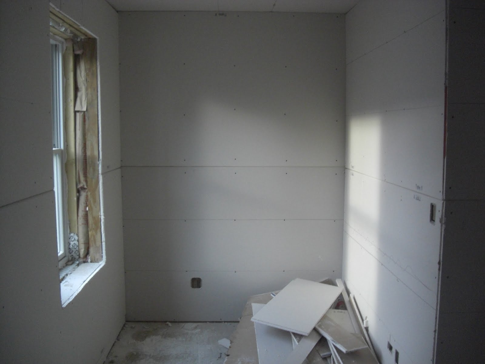 Bringing Down The House We Have Walls - Green board in bathroom