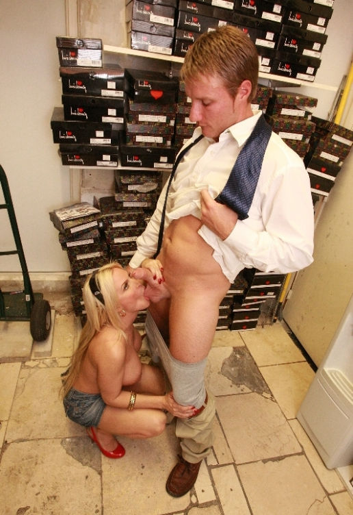 Car salesman fucks hot blonde pornstar