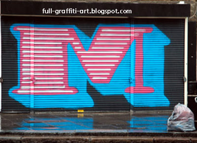 M  Graffiti alphabet letter.