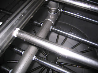 stainless steel header with wedge wire lateral distributors