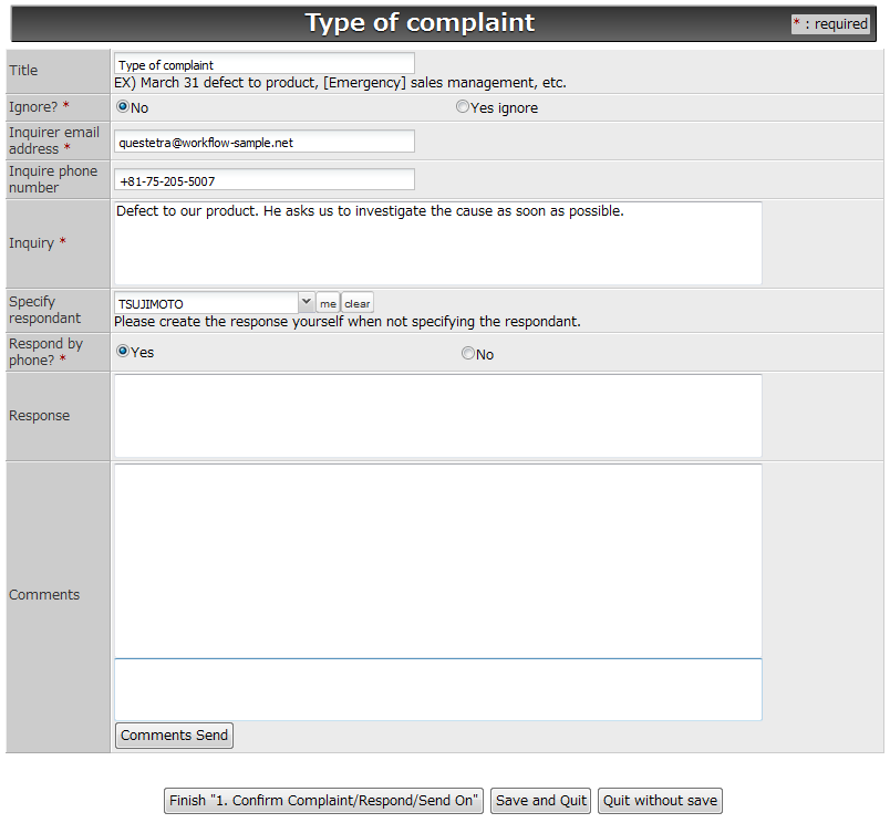 Workflow Sample How to Manage Complaints with Cloud Computing – Customer Complaint Form Examples