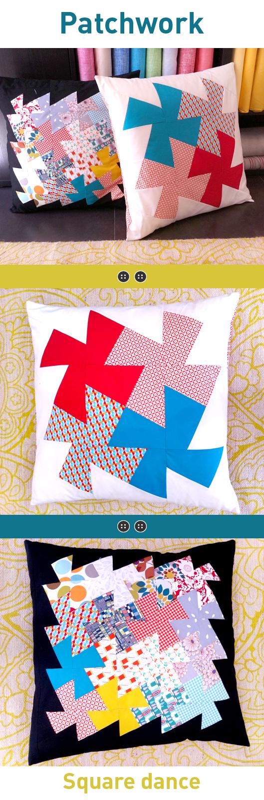 Monográfico marzo patchwork square dance en Trapo y tela