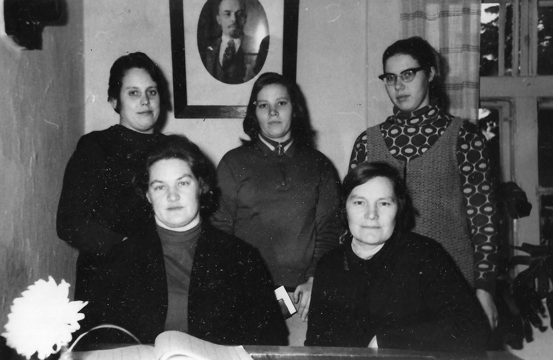 Taurkalnes ciema izpildkomitejas un kultūras darbinieces 1971. gada decembrī