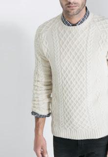 Jersey de punto trenzado de zara para chico