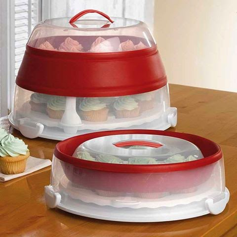 Collapsible Cupcake Cake Carrier