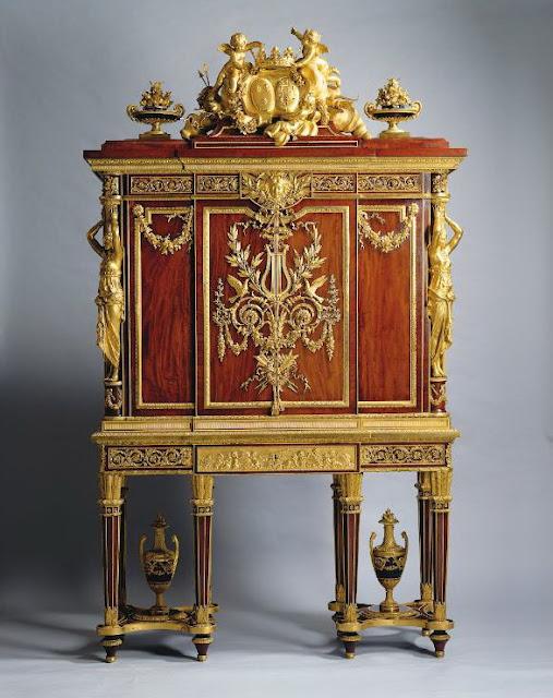 Jewel cabinet 1787, Jean-Henri Riesener (cabinet maker) François Rémond (1747-1812) (bronze maker),  Royal Collection Trust, UK