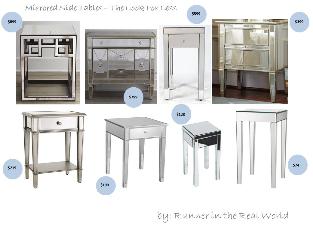 Superbe Runner In The Real World The Look For Less Mirrored Side Tables