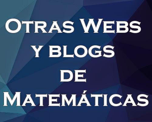 Web y Blog de Matemáticas