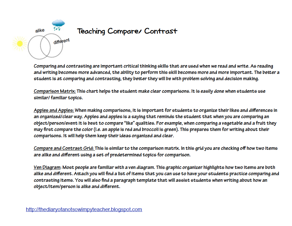 Writing a conclusion paragraph for a compare and contrast essay