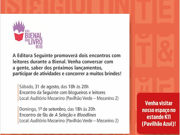 Eventos especiais da Editora Seguinte na Bienal do Livro Rio