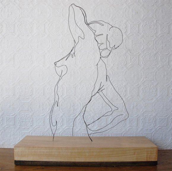 gavin worth esculturas vazada arame fios aço