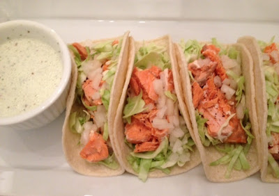Salmon tacos with cilantro crema cream recipe