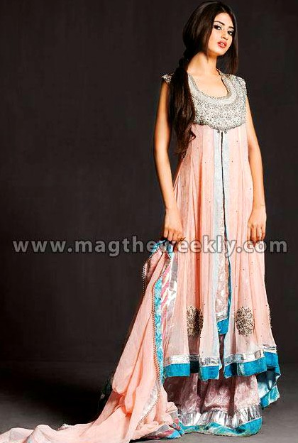 Winter Party Wear Dresses 2013 By Wajahat Mansoor Formal Dresses