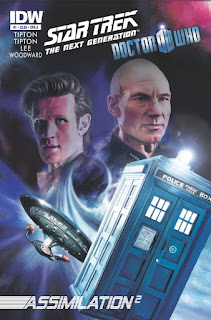 cover of the Doctor Who Star Trek TNG comic book