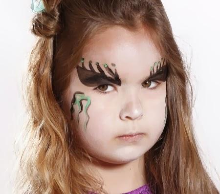 Caritas pintadas para ni as dise o bruja - Como pintar la cara de nina de bruja ...