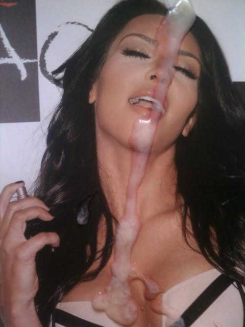 Kim Kardashian Cum Face