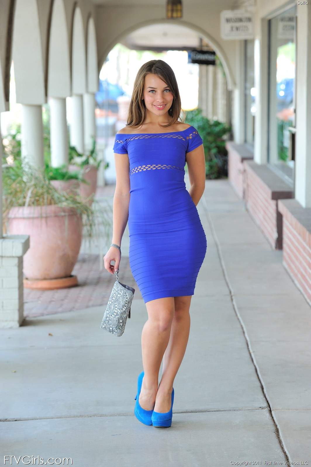 sophia sutra blue dress