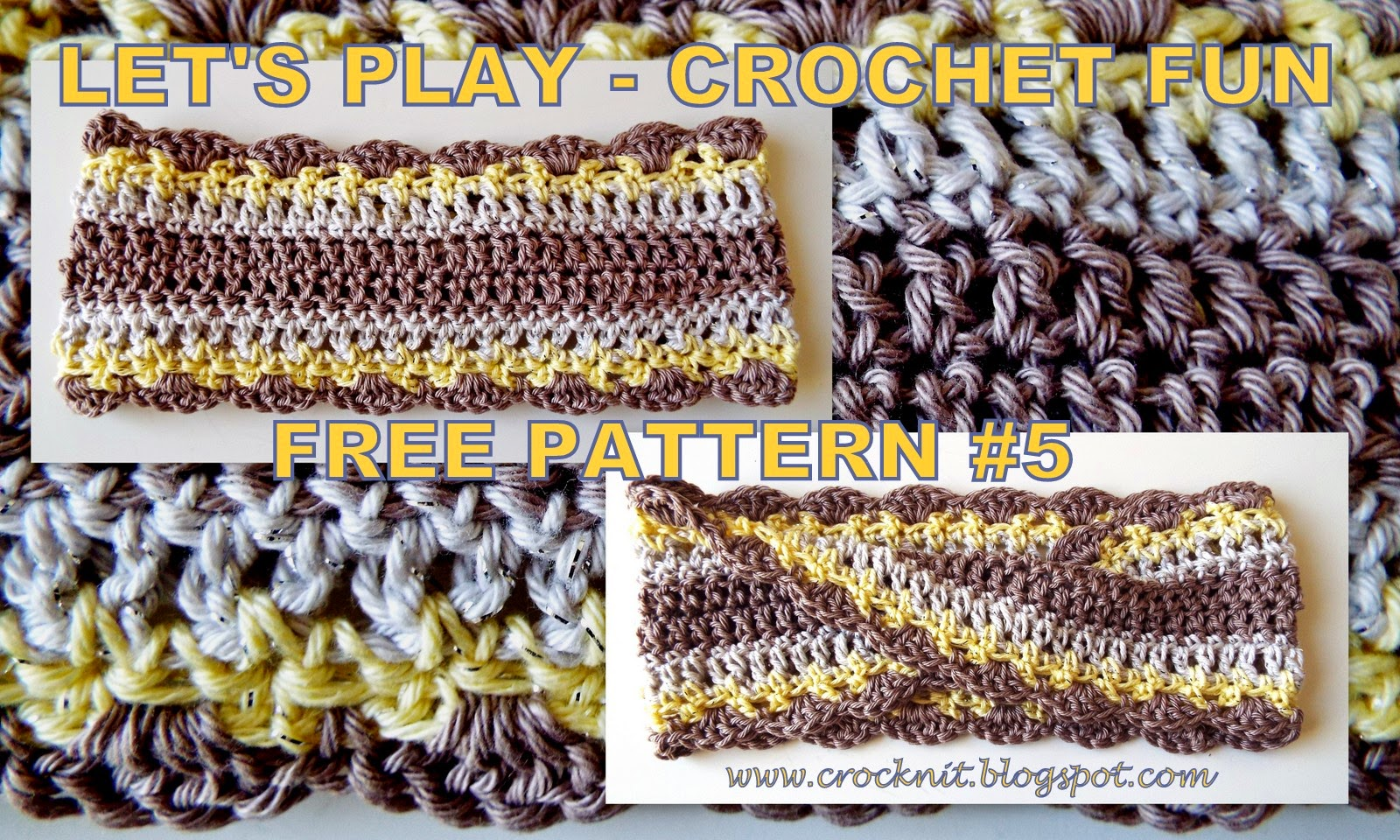 free pattern crochet mobius headband