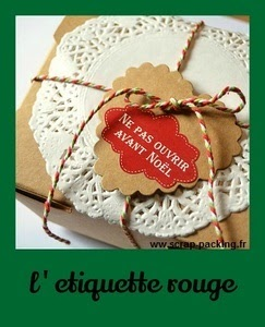 Etiquette Noel rouge