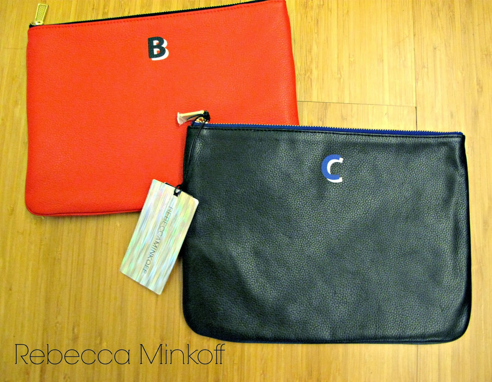 rebecca minkoff, monogram, jody pouch, the rack, nordstrom, red, b monogram, black, c monogram, fashion bargain