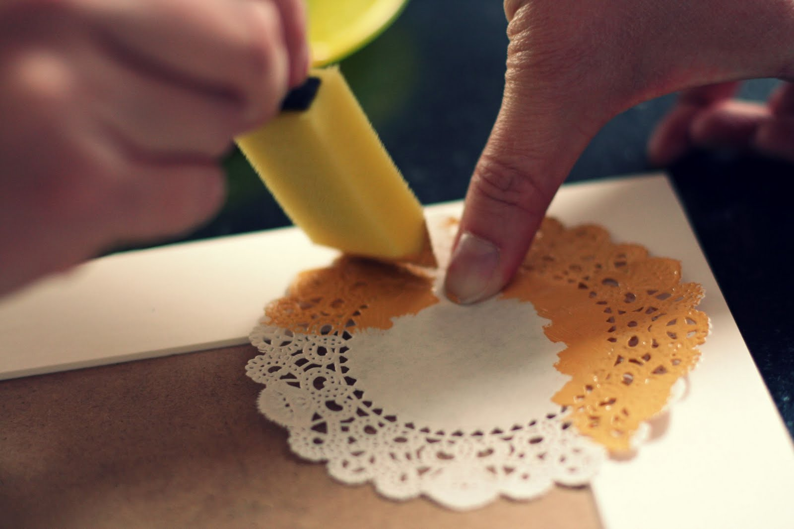 a bit of sunshine: make something monday :: doily printed picture ...