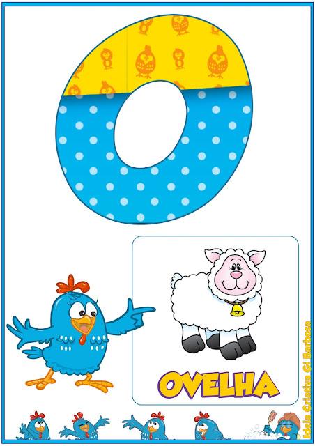Alfabeto Galinha Pintadinha para imprimir Grátis