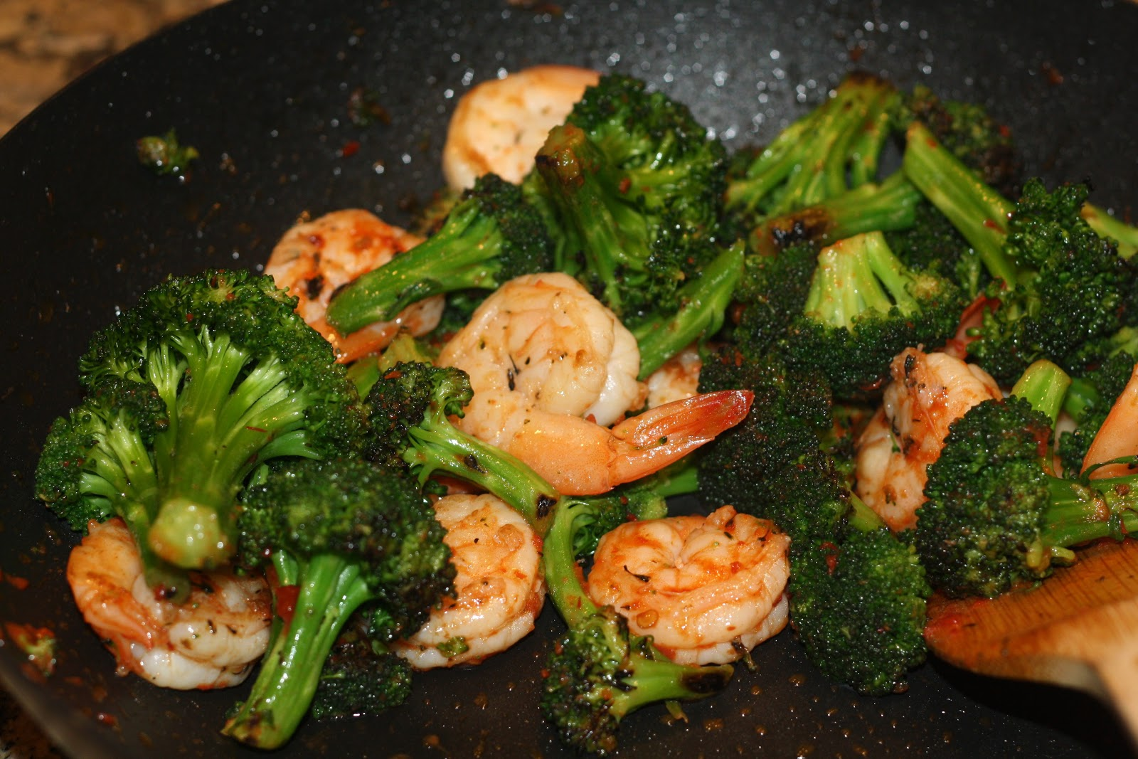what's for dinner?: spicy shrimp-and broccoli stir-fry... 20 minutes