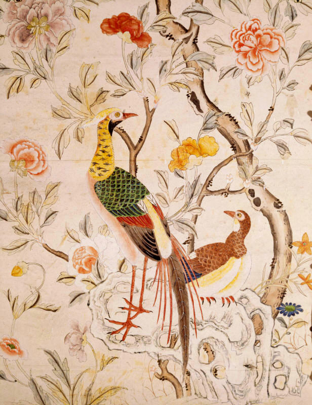 Loveisspeed felbrigg hall is a 17th century for Oriental style wallpaper uk