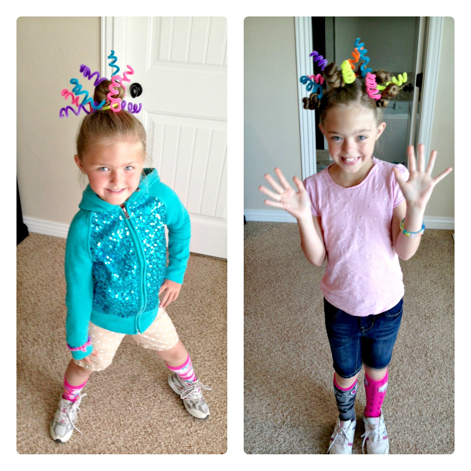 Blue Skies Ahead Crazy Hair Day Ideas