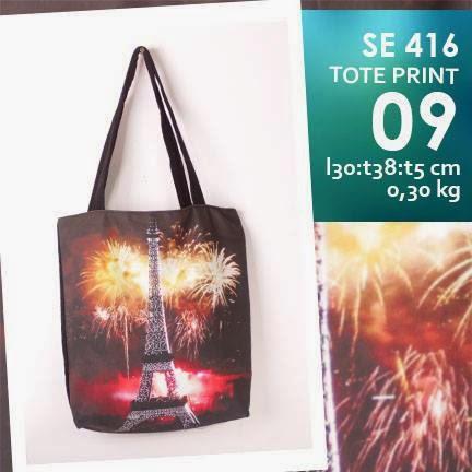 jual online tote bag kanvas murah full printing eiffle firework