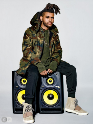 kanye west abel the weeknd yeezy boost season 1 gq magazine fashion style hair