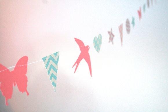 DIY Papiergirlande für den Kindergeburtstag