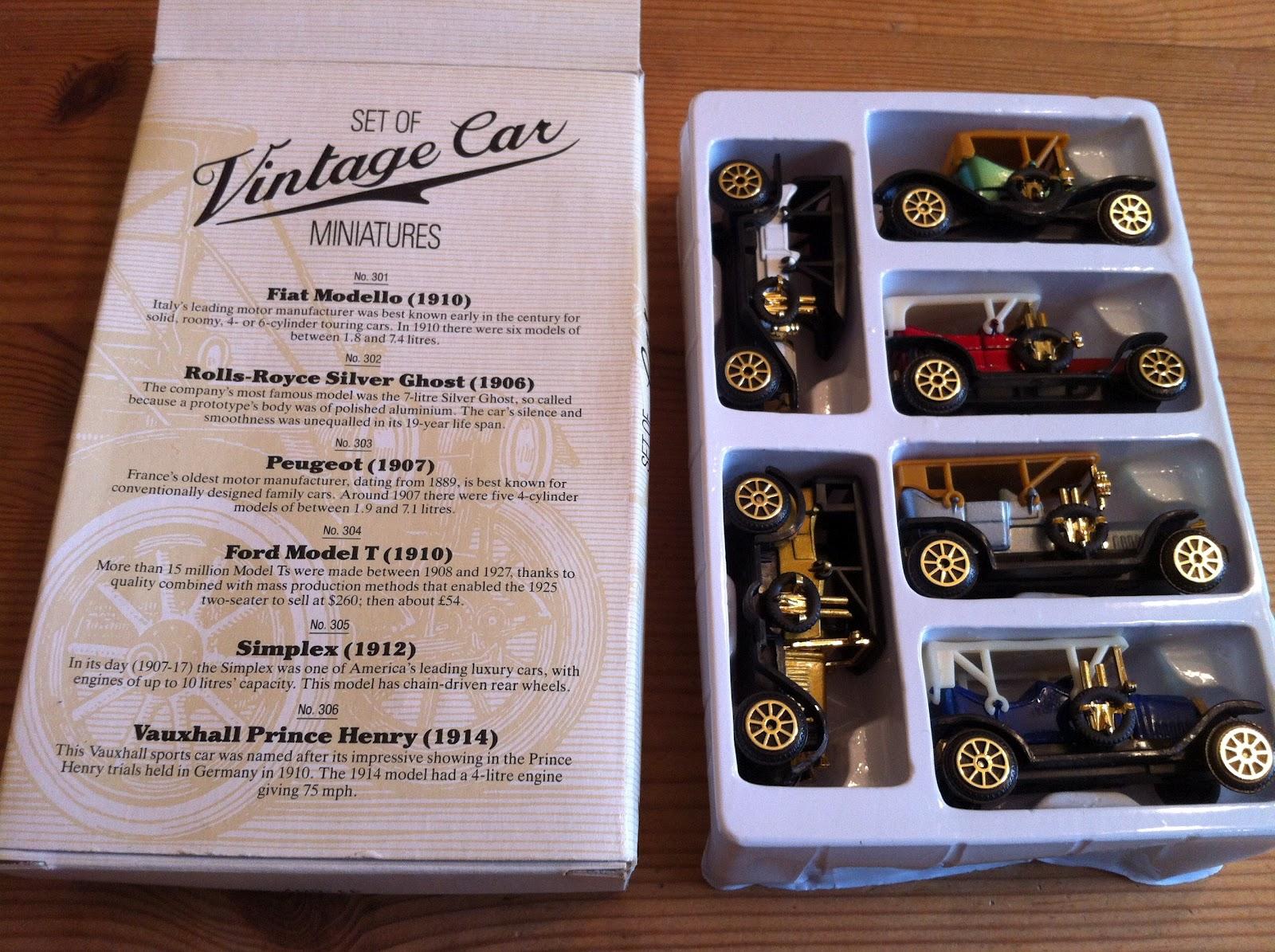Phil Treagus eBay: Readers Digest: Set of Vintage Car Miniatures