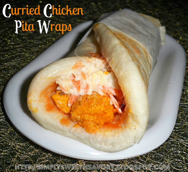 Simply Sweet 'n Savory: Curried Chicken Pita Wraps