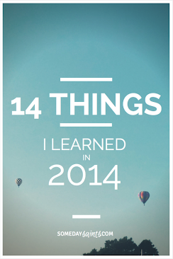 Lessons Learnt in 2014