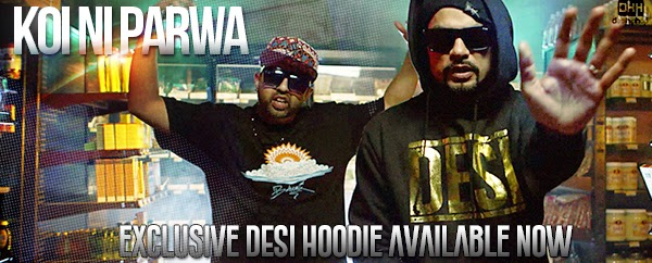 Desi HipHop - Koi Ni Parwa - Exclusive Desi Hoodie Available Now - Bohemia x Haji Springer