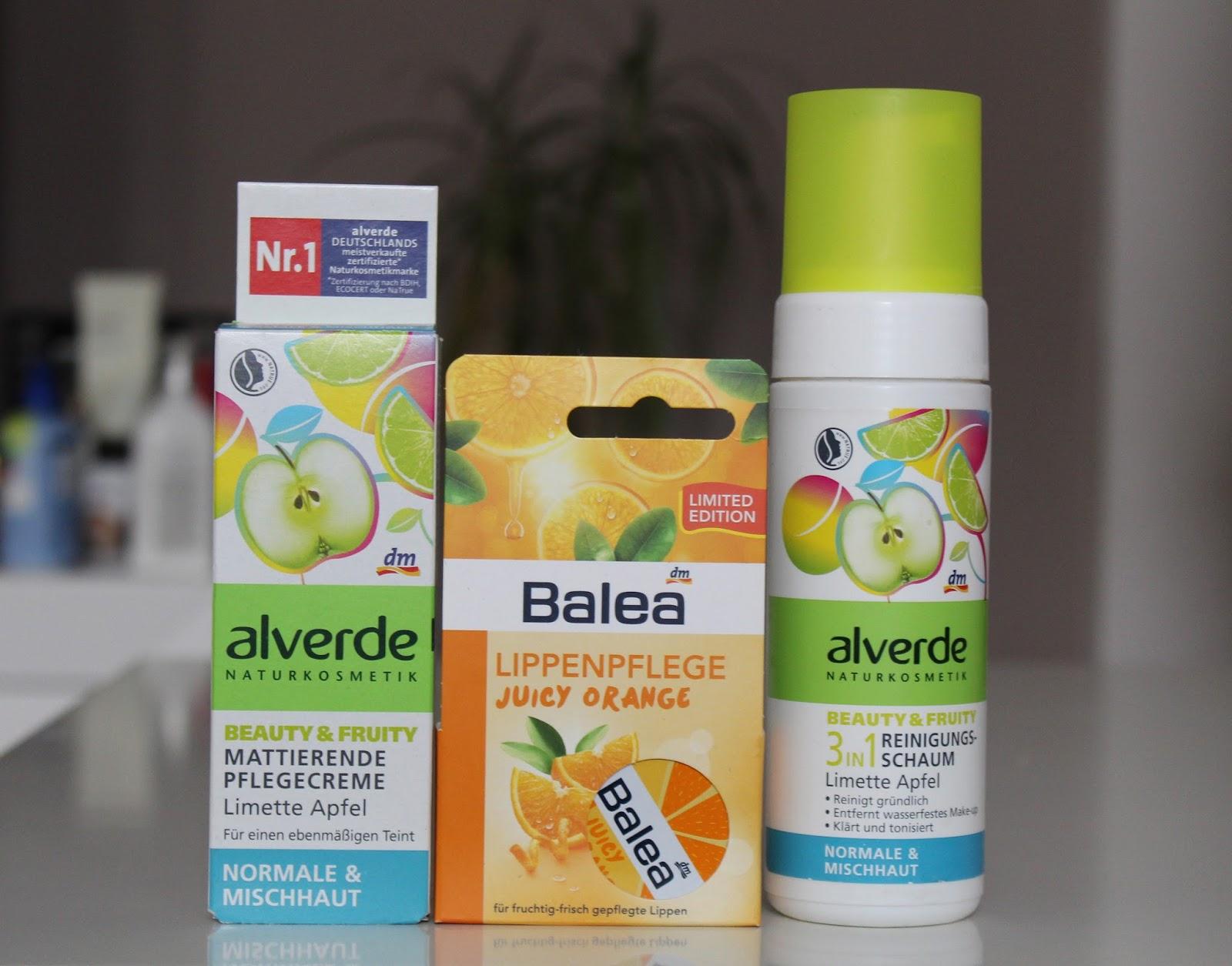 DM #2 Alverde matirajuća krema i pjena za normalnu i mještovitu kožu i Balea balzam od naranče