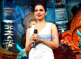 Kangna Ranuat promotes 'Rajjo' on Comedy Circus