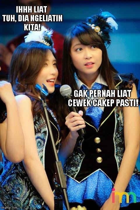 Gambar Meme Bekasi Lucu Foto Cewek Bekasi JKT48 Trending Twitter