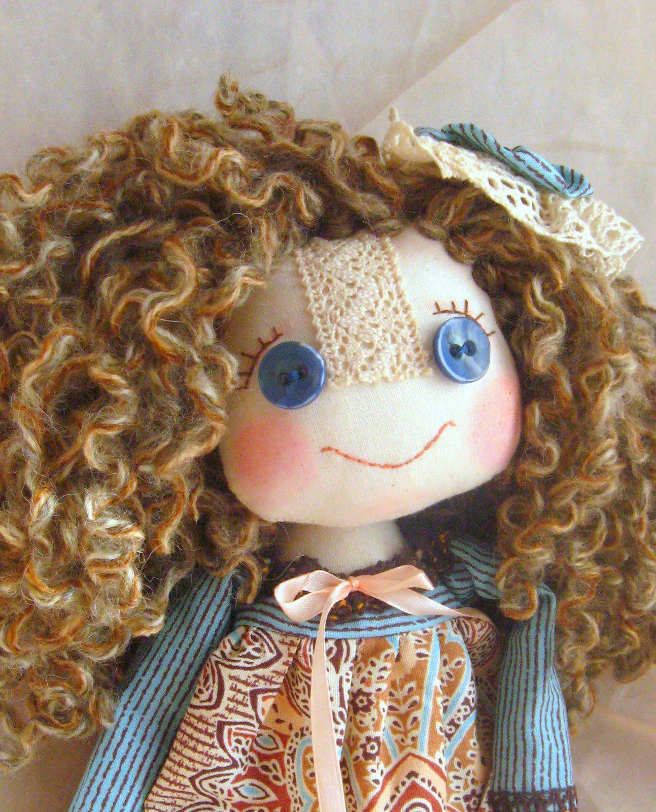 Волосы для куклы из ткани своими руками 65