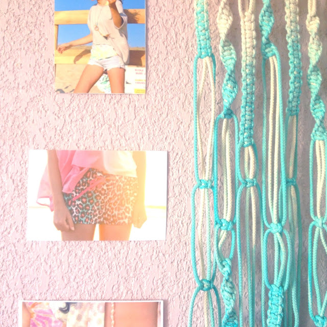 macramé,diy,dip dye,coquillages,a beachy life,home sweet home