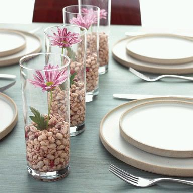 Centros de mesa con flores naturales de The Sky Club Fotos - Fotos Centros Flores Naturales